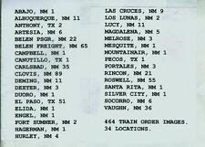 SANTA FE RAILROAD TRAIN ORDERS (464) NEW MEXICO DIV. 34 LOCATIONS 1915-1985 CD!!