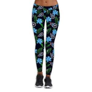 Tennessee Titans Women High Wasit Leggings Strectchy Yoga Soft Pants Butt Lift