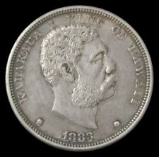 1883 SILVER HAWAII $1 KING KALAKAUA I COIN EXTREMELY FINE CONDITION