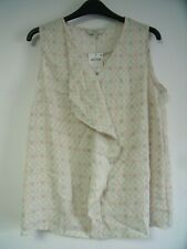 Next Ruffle Front Top Ivory Size UK 12 rrp £22 DH190 GG 04