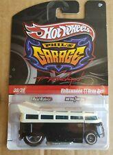 Hot Wheels Phil's Garage Volkswagen T1 Drag Bus Black / White