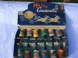 Vintage Disney Mazda CINDERELLA LIGHTS RARE ORIGINAL Box Design Lights
