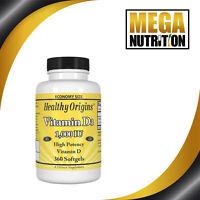 Healthy Origins Vitamin D3 1,000 IU 360 Softgels | Immune Health Vitamin Vit D