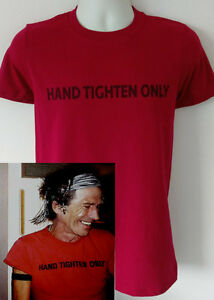 Keith Richards hand tighten only t-shirt worn by rolling stones led zeppelin