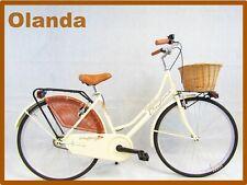 Fahrrad Damen Stil Retro 'Vintage Holland 26 Spaziergang Farbe Creme
