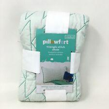 "Triangle Stitch Pillow Sham Mint (Standard) Pillowfort 20"" x 26"" 100% Polyester"