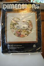 Vtg Dimensions Fancy Cat 1192 Crewel Embroidery Kit opened unused 1980