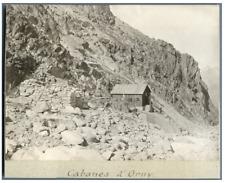 Suisse, Cabanes d'Orny  Vintage silver print Tirage argentique  12x16