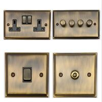 Deco Antique Bronze DAB3 Light Switches, Plug Sockets, Dimmers, Cooker, TV, Fuse