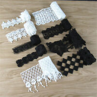 1 Yard Polyester Fabric Lace Sewing Trims DIY Craft Applique Trimming Ribbon