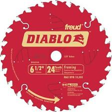 "FREUD D0624A 165MM 6-1/2"" 24 TOOTH CIRCULAR SAW BLADE 5/8"" 16mm arbor HOLE SIZE"