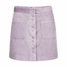 Soft Pastel Pale Pink Faux Fur Skirt A-Line Mini Pocket Front Fastening 8 10 12