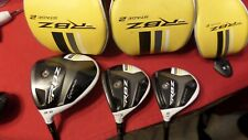 Taylormade RBZ Stage 2 Wood Set 9.5 Driver 3-5 Woods Stiff Graph Men Left Handed