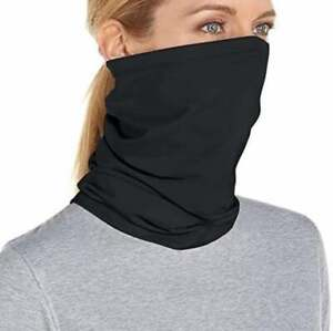 Neck Gaiter Premium Cotton Black Face Mask Balaclava Neckerchief Bandana Lot