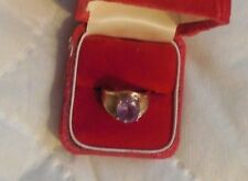Amethyst Ring In 10K Gold, Size 6