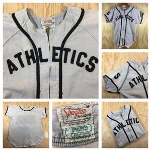 Vintage 1960's Athletes Spanjian Pasadena Baseball Jersey Medium