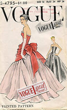 1950's VTG VOGUE Misses' Dress&Overbodice w/Pannier w/Label Pattern 4795 Size 14