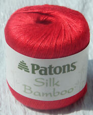 Patons Silk Bamboo Yarn in Rouge (Red) #85530 - New & Smoke Free Home
