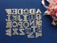 Metal Cutting Dies Handmade Card 2.2 x 2cm Upper Alphabets Die Cutter Set DC1328