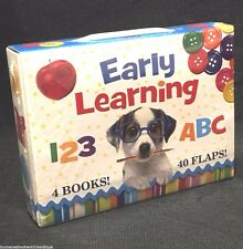 Lot 4 EARLY LEARNING Baby TODDLER Board BOOKS Boxed FLAPS Colors NUMBERS Shapes