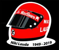 Niki Lauda F1 Helmet Stickers Bell Star Ferrari Formula 1 Stickers Decal 100mm