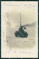 Siracusa Regia Nave Roma Marina Militare Foto cartolina XB2069
