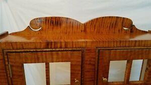 Federal Tiger Maple Petite 2 Door Cupboard Handmade (NEW) 3 Minute Mounting