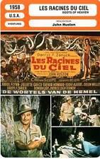 FICHE CINEMA : LES RACINES DU CIEL - Flynn,Gréco,Huston 1958 The Roots of Heaven