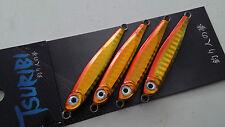 Tsuribi Carnada Metal Light Micro Jig Jigging Fishing Lure 21g 4 pcs Set Orange