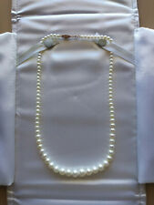 "Michael C. Fina Pearl Necklace 17"" with 14k Gold Clasp in Excellent Condition"