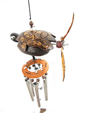 Handmade Hanging Wind Chimes Turtle Animal Spinner Outdoor Porch Patio Garden