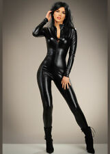 Womens Black Catwoman Catsuit Costume