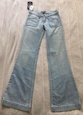 ANLO NWT Light Blue Denim 4 Pocket Bell Bottom/Flare Jeans Sz 25