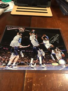 Carmelo Anthony Signed Denver Nuggets 8x10 Photo Steiner