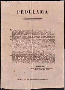 Proclama-Moti 1831- Il cardinale Benvenuti ostaggio degli insorti contro il papa
