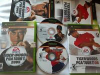 Tiger Woods PGA Tour Golf Original Xbox LOT: 05 06 2005 2006 CIB Complete