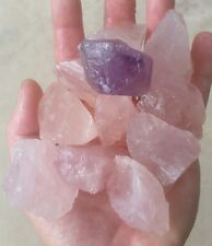 Gemstone Farmer: 8 to 10 Large Raw Pink Rose Quartz Rough Crystals Madagascar