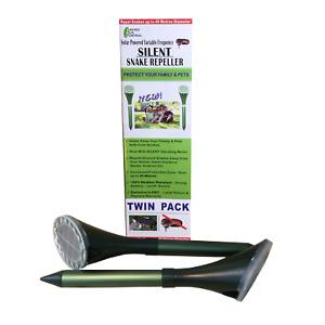Enviro Bug Control - Solar Snake Repeller - Small House Block - 2 Pack