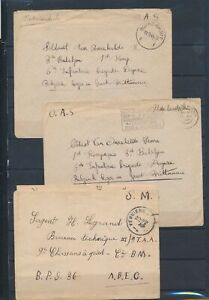 XC51102 Belgium 1945 military post covers with nice cancels used
