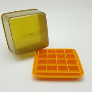 Boggle Word Game No.104 Replacement Shaker Box Tray Case Yellow 1976 Plastic