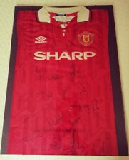 d4a779b91 Rare Man United Signed Class Of 92 Shirt Genuine MUFC football Collecters  Item