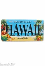 Vintage Hawaii Hula Girl Hawaiian Novelty License Plate