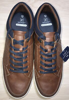 George Memory Foam Casual Lace Up Sneaker Shoe Men's Size (12) BROWN Brand New
