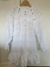 ALICE MCCALL - White Cotton Embodied Mini Long Sleeve Dress 8