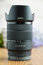 Sony E 18-135mm F3.5-5.6 OSS  E-mount Zoom Lens with Hood and Both Caps