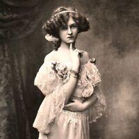 Miss Gabrielle Ray RPPC postcard antique actress portrait elegant pretty cute