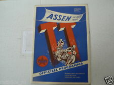 1954 DUTCH TT ASSEN PROGRAMME GRAND PRIX MOTO GP,RENNPROGRAM AHEARN,QUINCEY,DUKE
