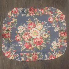 ❤️ RALPH LAUREN Kimberly Blue Floral Ruffled Standard Pillow Sham