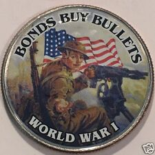 """BONDS BUY BULLETS""  WORLD WAR 1 COLORIZED HALF DOLLAR  #3246"