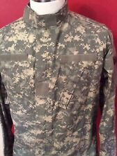 Men's Army Jacket Large X-Long Green USA Camouflage Pockets Zipper